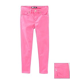 Levi's® Girls' 2T-6X Pink Sateen Denim Leggings