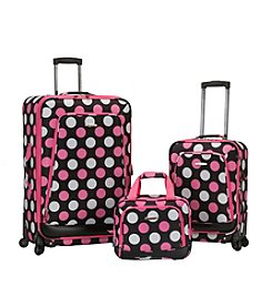 Rockland Pasadena 3-pc. Dot Luggage Set