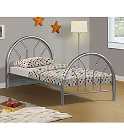 Monarch Jacques Silver Metal Twin Bed Frame