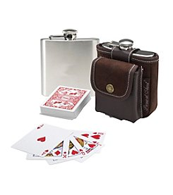 Picnic at Ascot Barware Hip Flask and Playing Cards