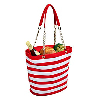 Picnic at Ascot Stripe Fashion Cooler Tote