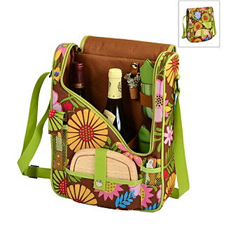 Picnic at Ascot Floral Pinot Wine and Cheese Cooler for Two