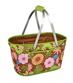 Picnic at Ascot Floral Collapsible Market Basket