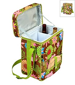 Picnic at Ascot Floral Wine and Cheese Cooler Tote
