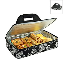 Picnic at Ascot Night Bloom Insulated Casserole Carrier