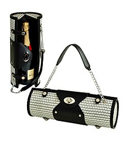Picnic at Ascot Black and White Wine Carrier