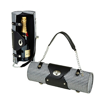 Picnic at Ascot Houndstooth Wine Carrier