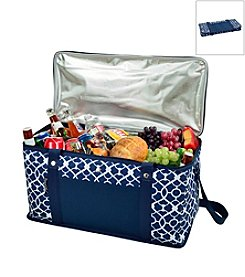 Picnic at Ascot Trellis Blue Large Trunk Cooler