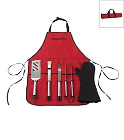 Picnic at Ascot BBQ Chef's Barbecue Apron and Tools Set