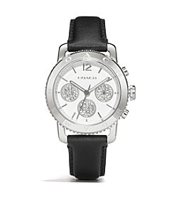 COACH LEGACY SPORT CHRONOGRAPH STAINLESS STEEL BLACK STRAP WATCH