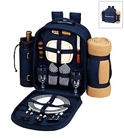 Picnic at Ascot Bold Picnic Backpack for Two with Blanket