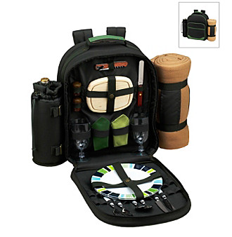 Picnic at Ascot Eco Picnic Backpack for Two with Blanket