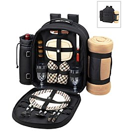 Picnic at Ascot London Picnic Backpack for Two with Blanket