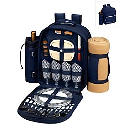 Picnic at Ascot Bold Picnic Backpack for Four with Blanket