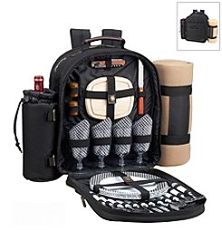 Picnic at Ascot Classic Picnic Backpack for Four with Blanket