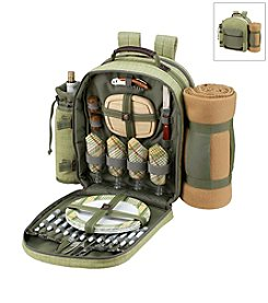 Picnic at Ascot Hamptons Backpack for Four with Blanket