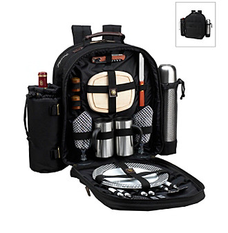 Picnic at Ascot Classic Coffee and Picnic Backpack for Two