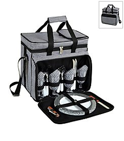 Picnic at Ascot Houndstooth Picnic Cooler for Four