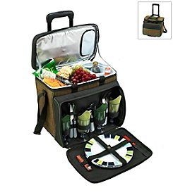 Picnic at Ascot Eco Picnic Cooler for Four with Wheels