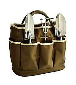 Picnic at Ascot Olive Gardening Tote with Tools
