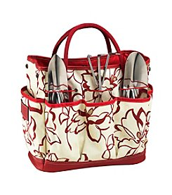Picnic at Ascot Red Floral Promenade Gardening Tote with Tools