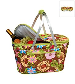 Picnic at Ascot Floral Collapsible Insulated Basket