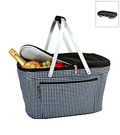 Picnic at Ascot Houndstooth Collapsible Insulated Basket
