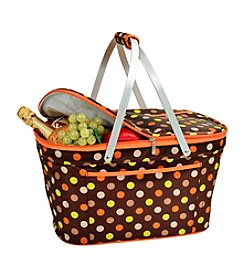 Picnic at Ascot Julia Dot Collapsible Insulated Basket