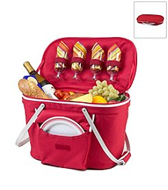 Picnic at Ascot Collapsible Insulated Picnic Basket for Four
