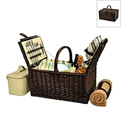 Picnic at Ascot Buckingham Basket for Four with Blanket