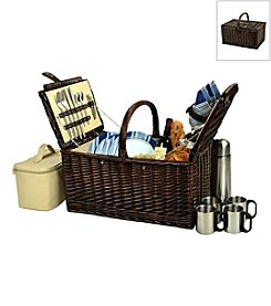 Picnic at Ascot Buckingham Basket for Four with Coffee Service