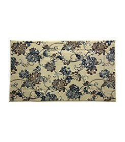 Bacova® Elegant Dimensions Elise Blue and Flower Accent Rug