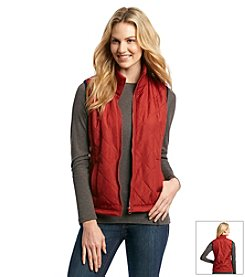 Ruff Hewn Diamond Quilted Rib Trim Vest