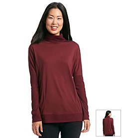 ruff hewn GREY Boxy Turtleneck Dolman Sweater