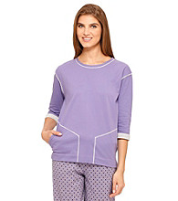 Cuddl Duds® Sleep Brushed Knit Top