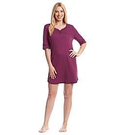 KN Karen Neuburger Knit Henley Sleepshirt