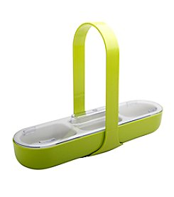 Zak Designs® KtoT Patented Three Section Caddy with Handle and SAN Lid