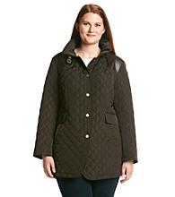 Jones New York® Plus Size Snap Front Quilt Jacket
