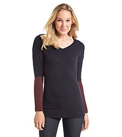 ruff hewn GREY Colorblock Tunic Sweater