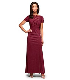 Alex Evenings® Glitter Mesh Long Dress