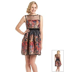 Adrianna Papell® Metallic Floral Cocktail Dress