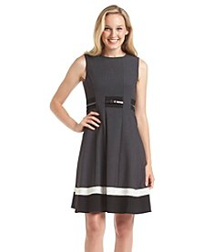 Calvin Klein Pleated Fit And Flare Dress