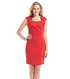Calvin Klein Horseshoe Neck Ponte Knit Sheath Dress