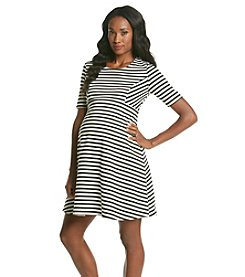 Three Seasons Maternity™ Elbow Sleeve Stripe Dress