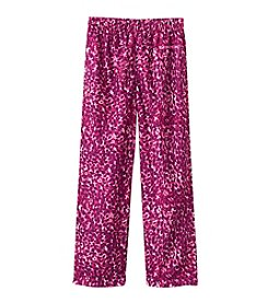 Calvin Klein Girls' 5-16 Purple Leopard Print Jersey Pants