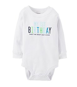Carter's® Baby Boys' White/Multi 1st Birthday Bodysuit