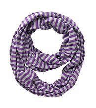 Miss Attitude Girls' Purple Striped Infinity Scarf