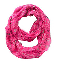 Miss Attitude Girls' Hot Pink BFF Infinity Scarf
