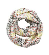 Miss Attitude Girls' Ivory Knit Infinity Scarf