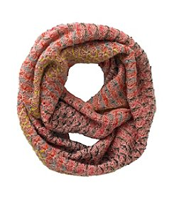 Miss Attitude Girls' Pink Knit Infinity Scarf